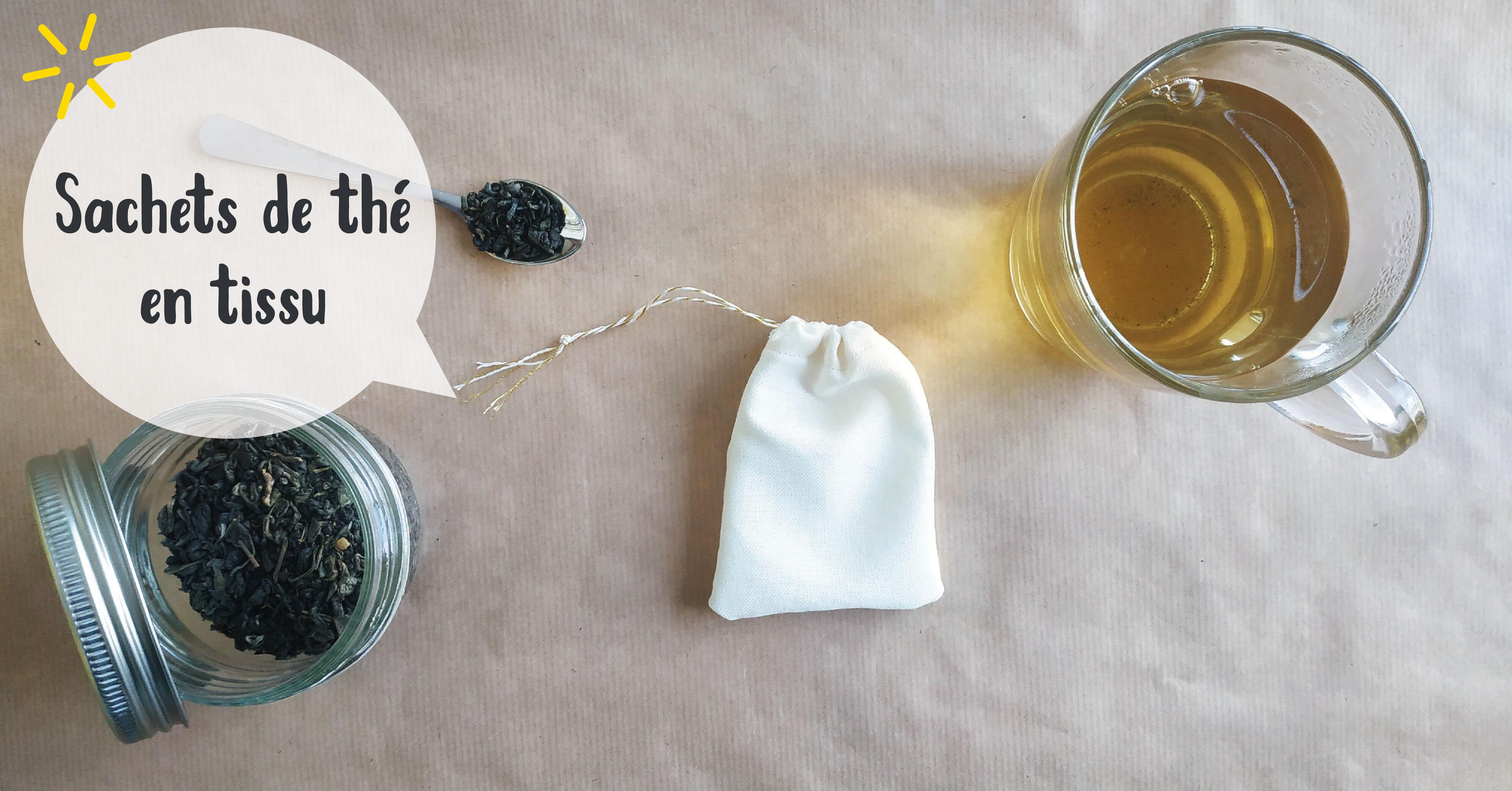 Sachet de thé en tissu