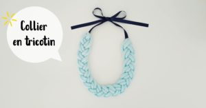 Collier en tricotin @ L'atelier de No Working