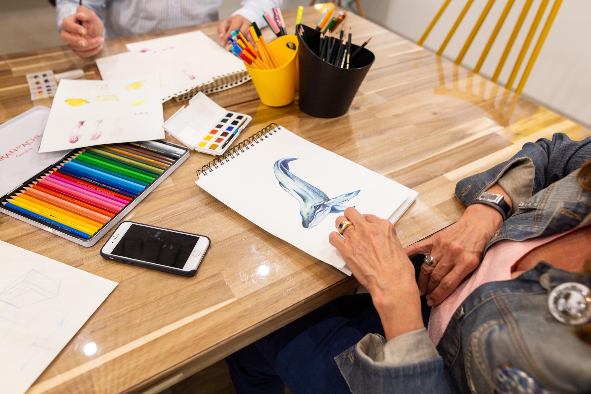 Atelier créatif dessin à l'Atelier de No Working !