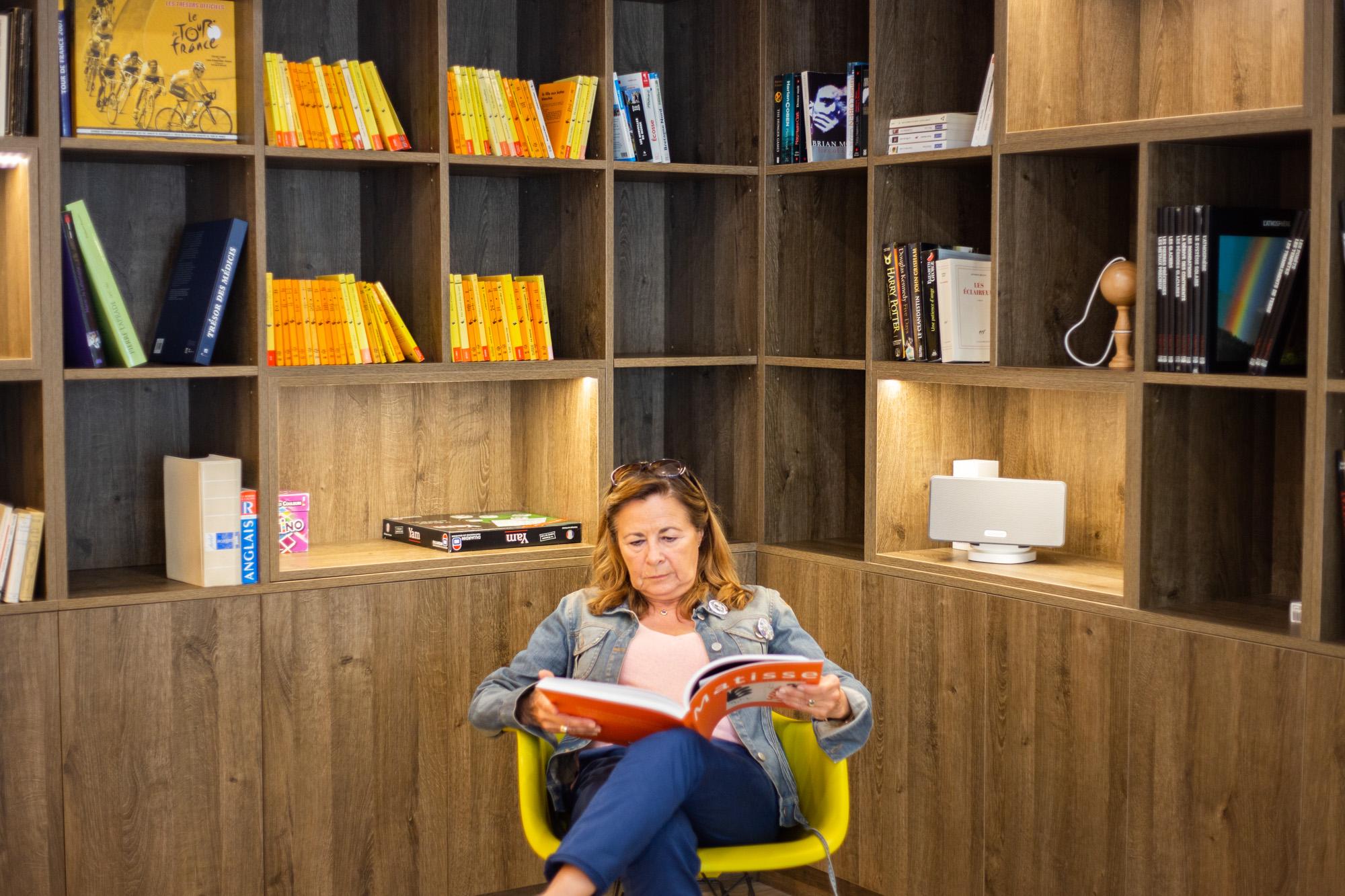 Prendre du temps pour soi dans notre espace lecture !